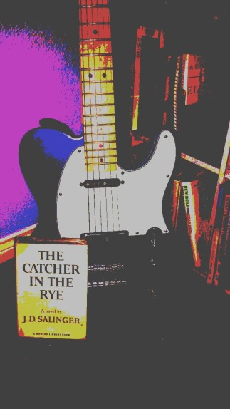 Telecaster and book